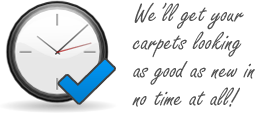We'll get your carpets looking brand new in no time at all!
